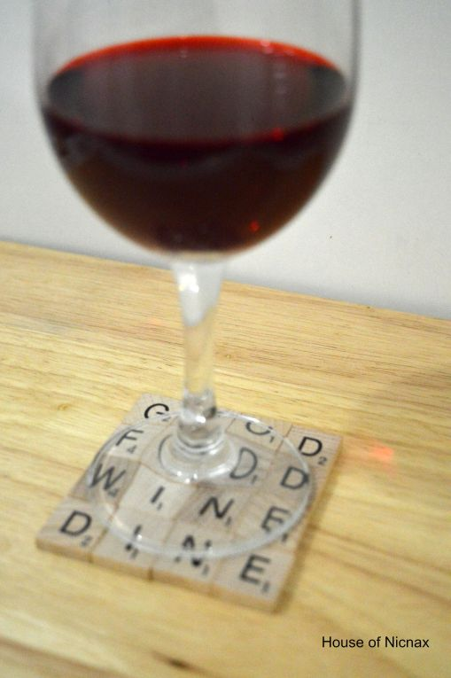 Scrabble tile drink coasters