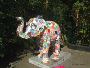 Painted elephant at Melbourne Zoo