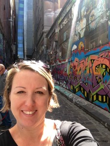 Oh look....it's me in Hosier Lane!