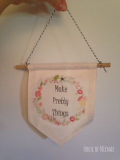 Craft room banner for mum (made by me)