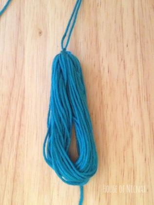 Easy tassel tutorial using embroidery thread. DIY Tutorial instructions can be found on www.houseofnicnax.com.au #Tassel #tutorial #DIY