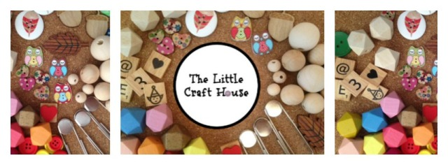 The Little Craft House. Craft Supplies in Australia. Wood beads, scrabble tiles, E6000 glue