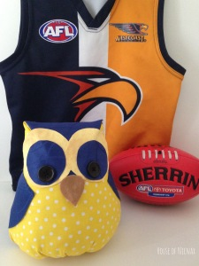 Custom made West Coast Eagles Owl! By House of Nicnax