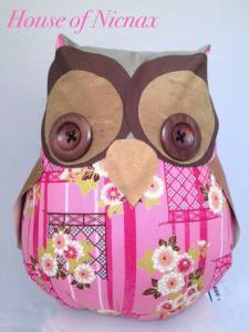 Owl Doorstop featured in the Collective Artisan Showcase via Facebook.