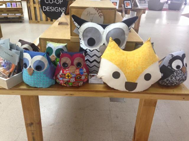House of Nicnax woodland friends. Located at Co-op Designs within MANY6160 Fremantle